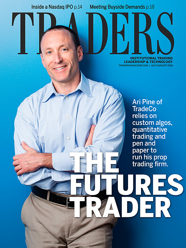 Cover portrait of Ari Pine for Traders magazine.