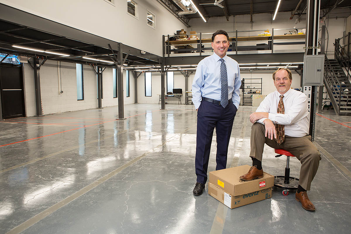 Fred D'Alessandro and Kevin Collins, Diversified Systems Inc. photographed for Commercial Integrator Magazine.