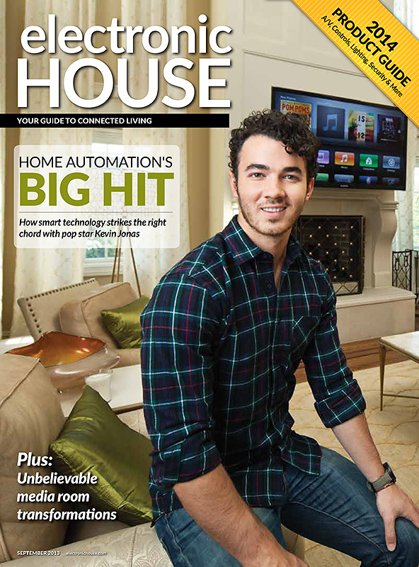 Kevin Jonas, photographed for Electronic House magazine