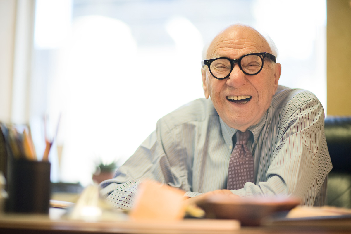 Milton Teicher photographed in NYC for On Wall Street magazine.