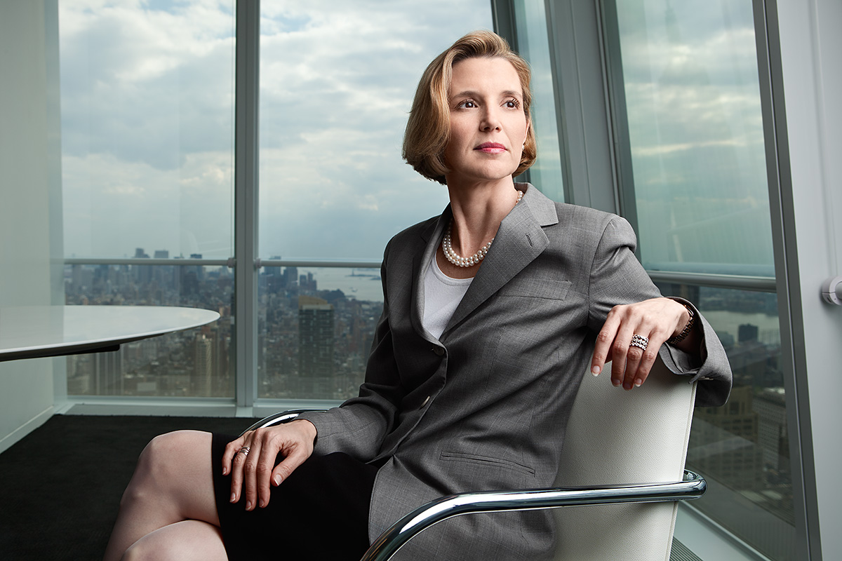 Sallie Krawcheck photographed for On Wall Street