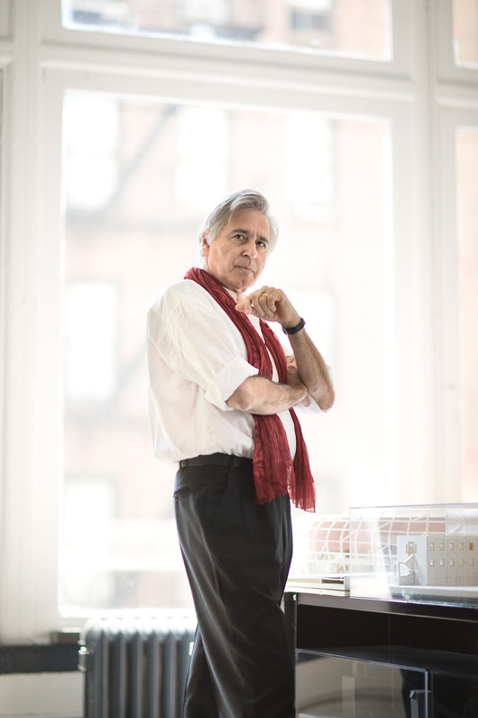 Bernard Tschumi, architect, photographed in NYC for Architect Magazine.