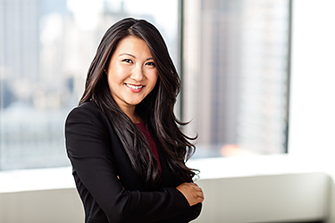 Corporate portrait of Jenny Chan, Heidrick and Struggles, New York.